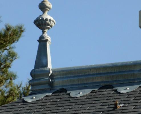 Roof restoration - chateau de la Caillotiere
